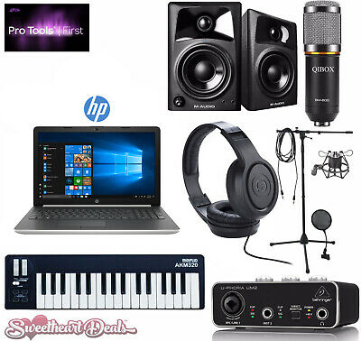 Home Recording Bundle - POWERFUL HP Laptop - Pro Tools Software - Studio Package
