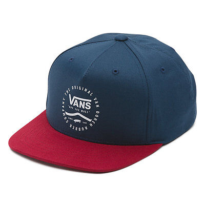 Brand New Boys Vans Side Stripe Youth Snapback Hat Dress Blues Racing Red