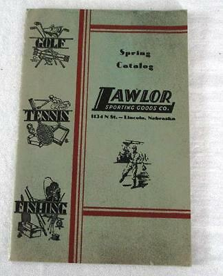 LAWLOR SPORTING GOODS CO. 1931 Spring Catalog Golf, Tennis, Fishing ++80 Pages