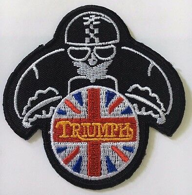 Embroidered  cloth patch ~ Triumph Rider.    B01110