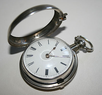 Antique Solid Silver Hunter Of Inverury 1854 Fusee Pair Cased Pocket Watch