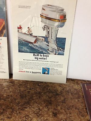1963 Johnson Outboard Motor Ad With Mercury Outboard On Reverse Side