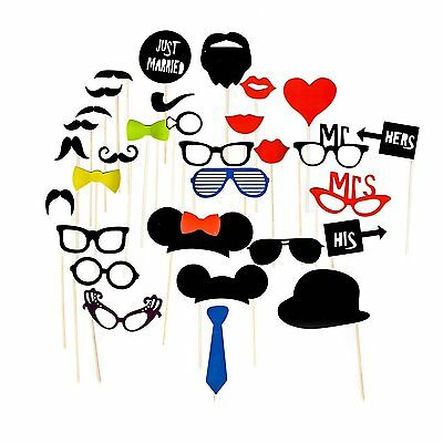 14pcs Party Props Photo Booth Moustache Funny Selfie Kit Birthday Wedding F05
