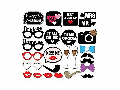 26pcs Party Props Photo Frame Selfie Funny Wedding Birthday Just Married 26038