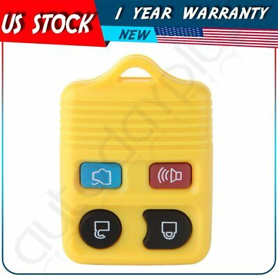 Replacement For 2011 2012 2013 2014 Ford Mustang Focus Key Fob Case Shell Yellow