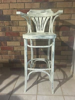 Shabby chic Vintage timber stool