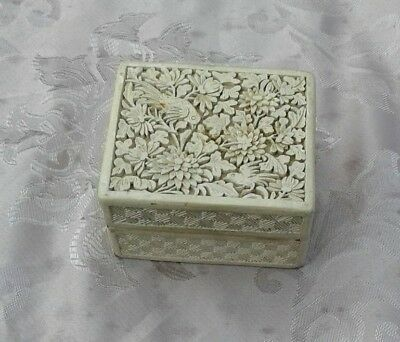 Antique chinese lacquer box late 1800s