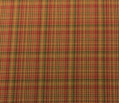 "Fabricut Code Name Fireside Red Green Woven Cotton Plaid Fabric By Yard 54""w"