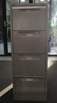 Used lockable four drawer filing cabinet