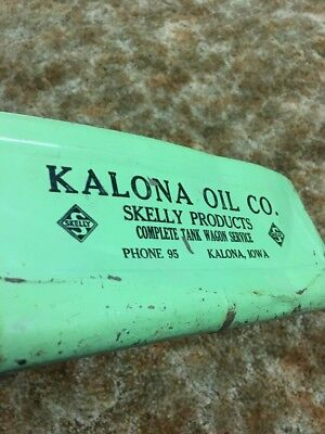 Kalona Iowa Oil Skelly Products Dust Pan Advertising Tank Wagon Service