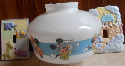 Disney Light Shade & Two Switch Plates