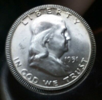 1951 Franklin Silver Uncirculated Half Dollar