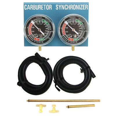 2 Gauge Carburetor Synchronizer Tuner Tool for Motorcycle Carbs
