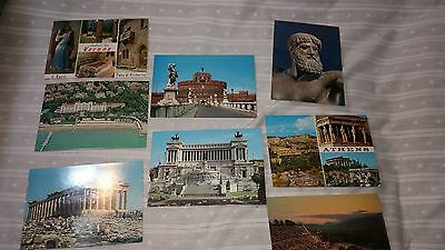 Vintage Postcards from Italy and Greece set of 8