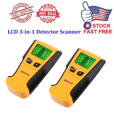 2x Floureon Stud Center Finder Metal AC Live Wire Detector Scanner LCD Display