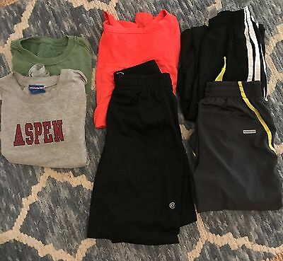 boys 10-12 lot of sports shorts and tee shirts. New and EUC
