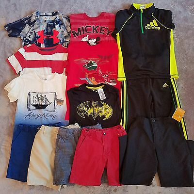Boys Assorted Mixed Lot 13 Item Tops Bottoms Shirts Shorts Pants Size 4/4T-5/5T