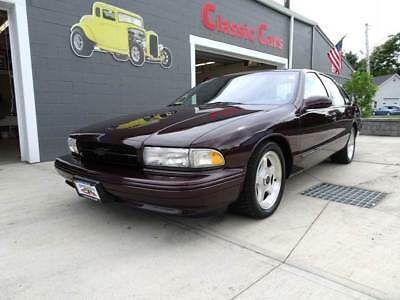 1996 Chevrolet Impala Super Sport 1996 Chevrolet Impala SS Low Miles Incredible Condition Burgundy Low Reserve