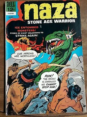 "#9 Naza Stone Age Warrior ""ice Entombed Monster! March 1966"