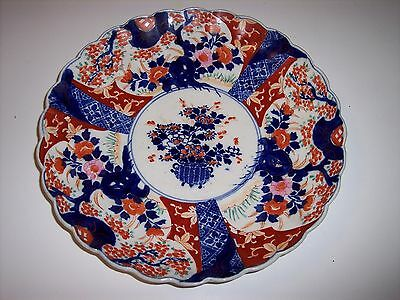 Superb Early Japanese Imari Charger with Scalloped Edge, circa 1890