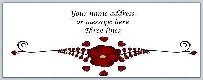 30 Personalized Return Address Labels Flowers Buy 3 get 1 free (bo 372)
