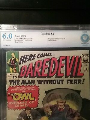"""Daredevil #3 CBCS 6.0 - first appearance of """"The Owl"""""""