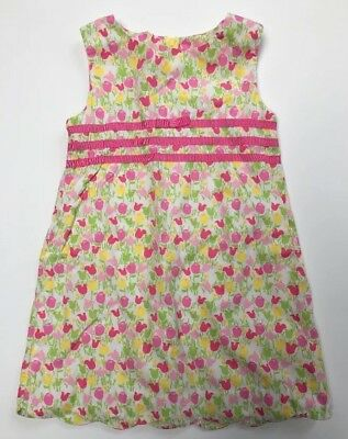 LILLY PULITZER Girls 100% Cotton Dress Floral Tulips - 3T