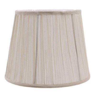 Pleated Shade Beige Lampshade for Table Lamp or Ceiling Cover Holder H24cm