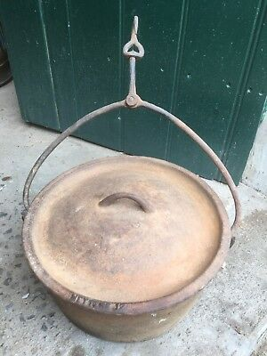 Vintage Metters 12 Inch Cast Iron Camp Oven With Universal Handle