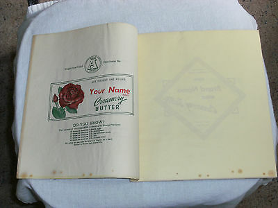Very Rare 13 Different Vintage Salesman Sample Butter Wrappers / Parchment Paper