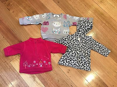 Bundle Winter Baby Girl Fleece Jumpers Size 0