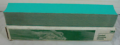 "Box of 3M Green Corps Production Coated Abrasive 80D Grit 17.5"" Sandpaper"