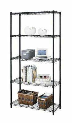 Heavy Duty 5 Tier Layer Portable Wire Shelving Rack Adjustable Shelf Storage