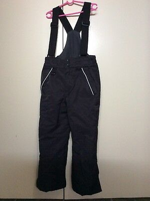 Snow Ski Pants Waterproof Insulated Size 8 Black