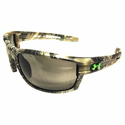 NEW Under Armour Captain Sunglasses UA – Satin Camo Realtree – Gray ANSI Z87.1