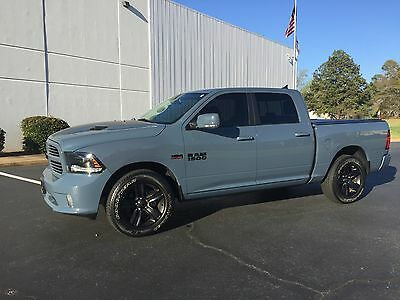 2015 Ram 1500 Sport Crew Cab Pickup 4-Door 2015 Ram 1500 Sport Crew Cab Metallic Gray Excellent Condition