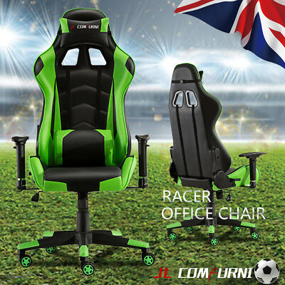 Home Office Chair Ergonomic Recline Rocking Swivel Computer Lift Chair Green