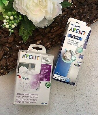 Philips AVENT Sterilizer Bags nd Bottle Steam Bags Classic 3 Months