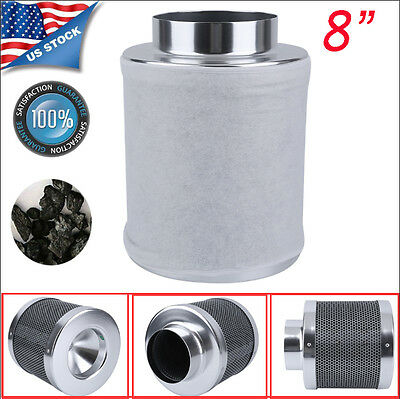 """8"""" Air Carbon Charcoal Filter Inline Fan Scrubber Odor Control Gardening US MAX"""