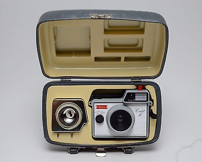 Vintage ANSCO Cadet II Camera with Case and Flash 127 Film