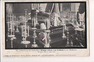 Vintage Postcard Funeral King Albert of Saxony Mourning Card