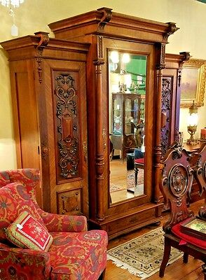 Grand Antique Wardrobe Closet