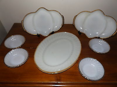 Anchor Hocking Fire King Milk Glass Surburbia Dishes & Serving Platters