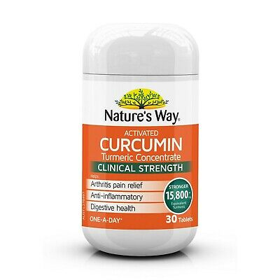 Nature's Way Activated Curcumin Turmeric Concentrate One-A-Day 30 Tablets