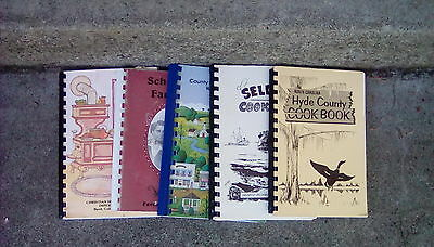 Lot Of 5 Community Spiral Bound Cookbooks