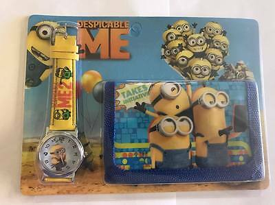 Kids Watch Wallet Set Despicable Me Boys Girls Aussie Seller Children