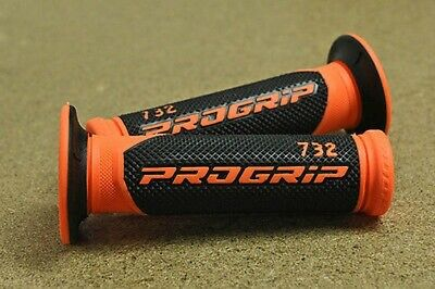 Handlebar Grips Progrip Rubber Gel Orange Honda XLR125 JD16 98-99 XLR 125