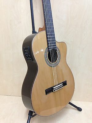4/4 Rosales HS20CEQN Solid Top Electro-Classical Guitar w/Truss Rod+Free Gig Bag