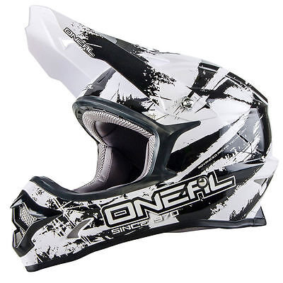 Oneal NEW 2018 Mx 3 Series Shocker Dirt Bike Motocross Helmet- Black/White