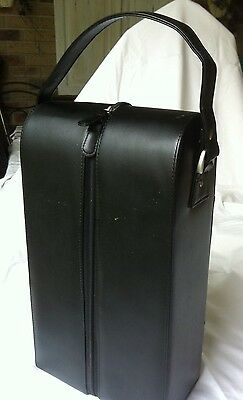 Wine Carrier Bag With Carry Strap, Black With Zip, As New